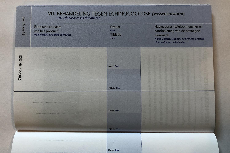 Dierenkliniek Tiel-Drumpt: officiële dierenpaspoort: Echinococcose